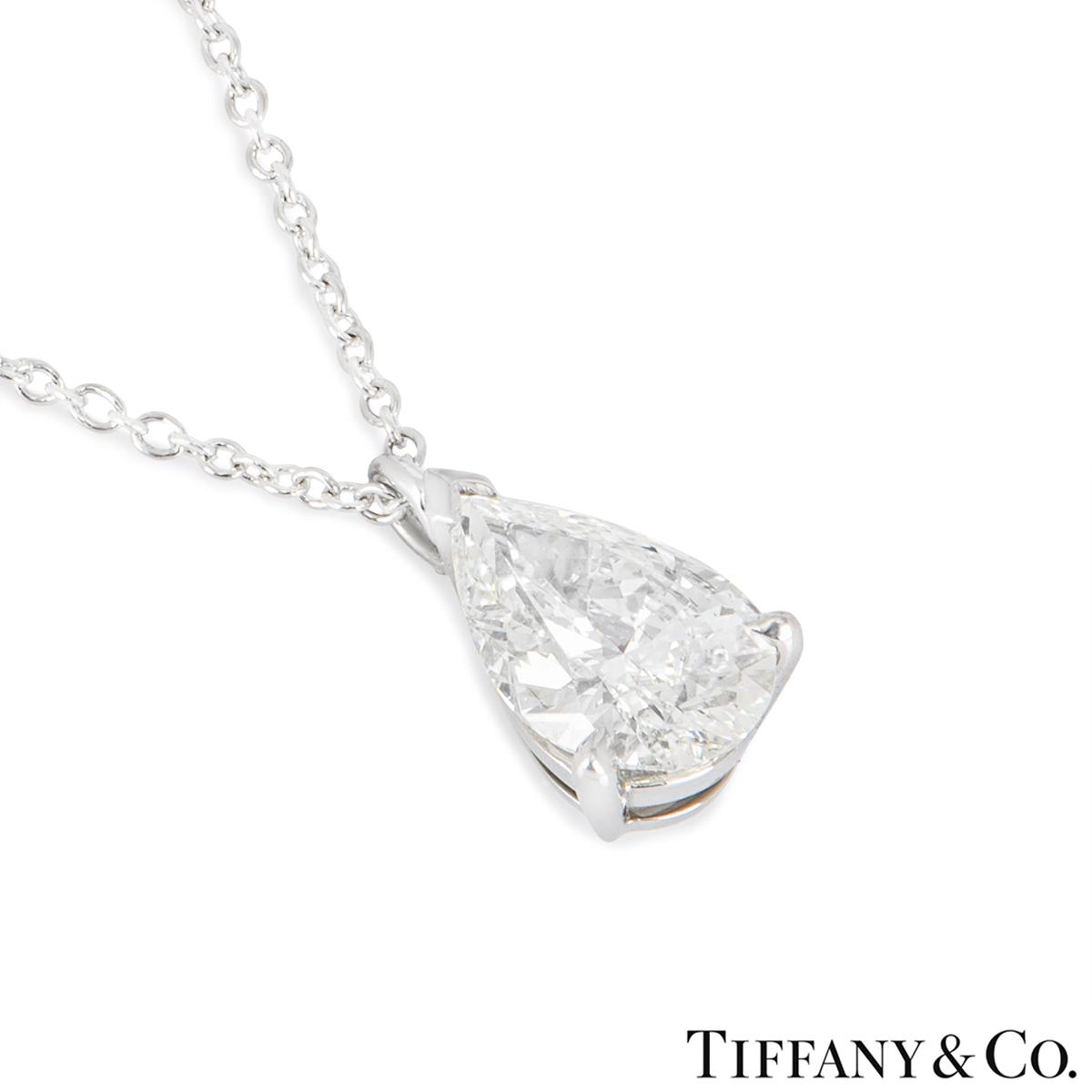 Tiffany & Co. Platinum Diamond Pendant 1.28ct I/VVS2
